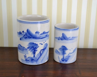 Vintage Chinoiserie Container Set