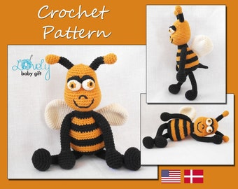 Crochet Pattern, Amigurumi, Bee, Crochet Tutorial, Amigurumi Pattern, Stuffed Toy, CP-116