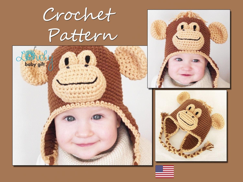 Crochet animal hat pattern earflap hat crochet pattern baby this is a digital file bankloansurffo Images
