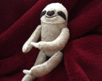 Pocket Sloth Hand Sewn from Felt