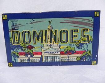 Vintage Dominoes Game  Halsam Double Nine Capital Dominoes