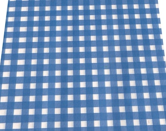 Blue Gingham check Paper Basket Liners showers rehearsal dinner Food Service cookouts barbecues summer parties country wedding