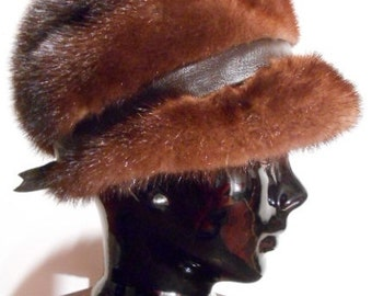 Deep Cocoa Mink Loni Exclusive Hat, c. 1960