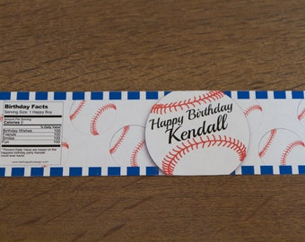 Baseball Water resistant labels personalized (set of 10)