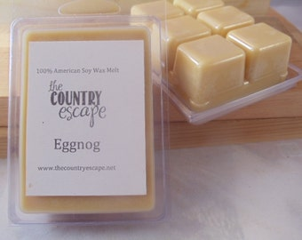 Eggnog Scented 100% Soy Wax Clamshell Melt - Cheers! -Maximum Scented