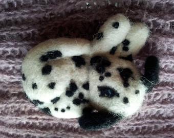 Miniature dog portrait needle felt collie, labrador, spaniel, dalmation, mongrel etc Custom made