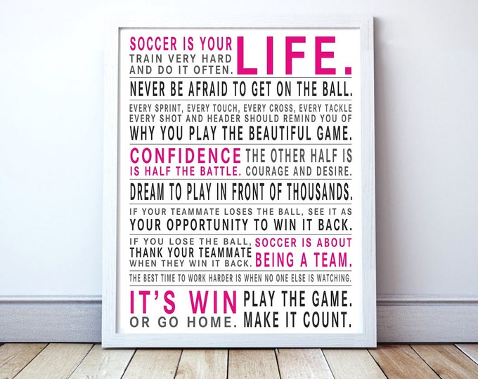Play The Game - Soccer Manifesto Poster Print