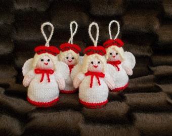 Free Postage * Set of 4 Christmas Angels/Fairies Tree Decorations