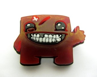 Super Meat Boy Laser Cut Brooch