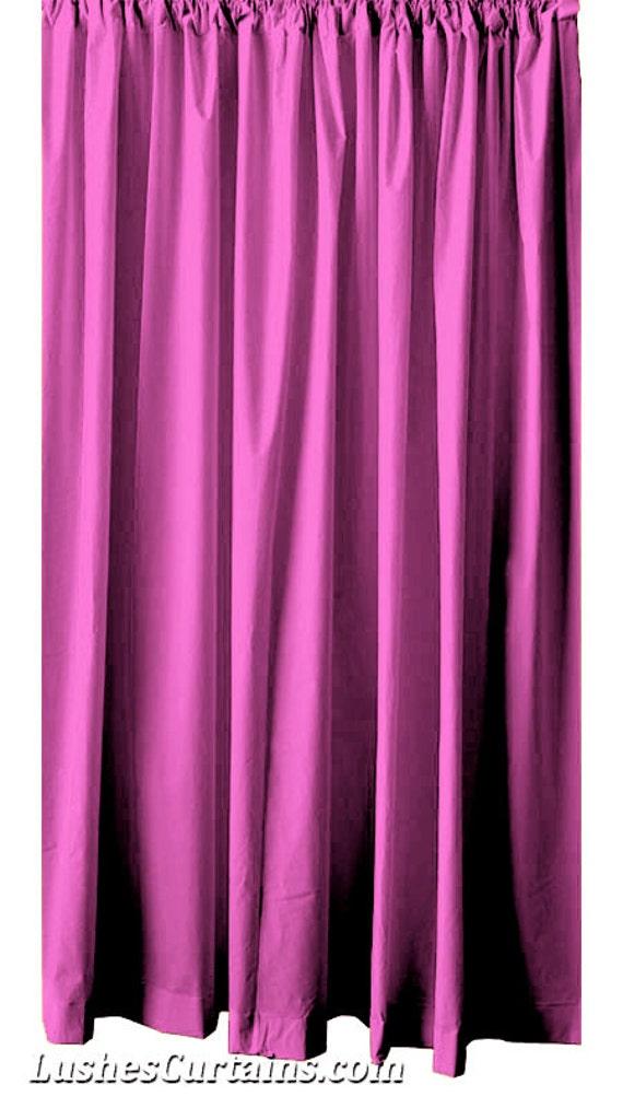 Modern 120 inch H Pink Velvet Curtain Long Panel Custom Size Drapes ...