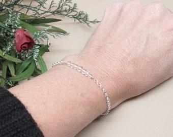 Clear Crystal Quartz Bracelet, Clear Gemstone Bracelet, April Birthstone, Colorless Gemstone, Bridal Jewelry, Keira's Crystal Creations