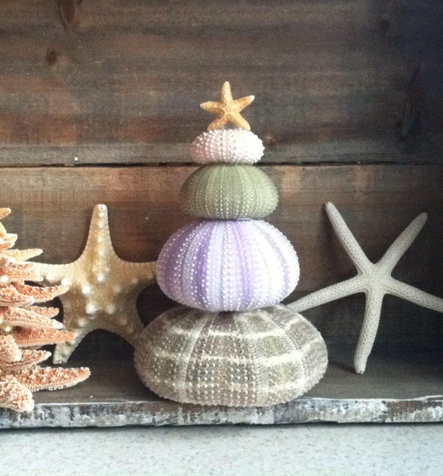 Beach decor sea urchin christmas tree beach christmas decor for Sea house decor