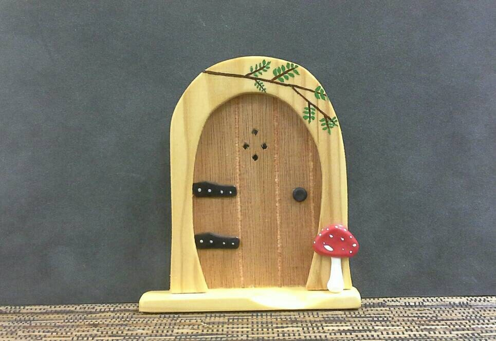 Handmade wooden fairy door for Wooden fairy doors