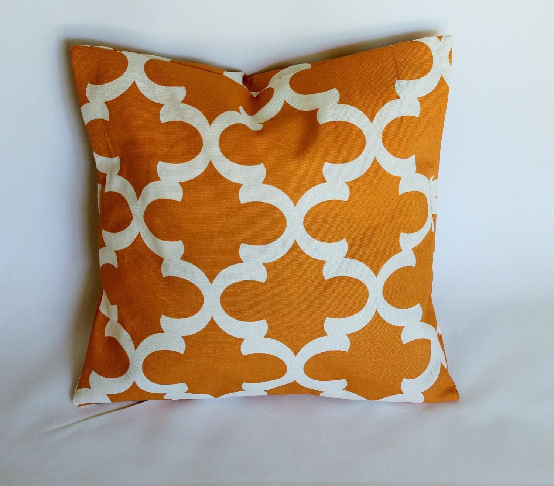 Designer decorative throw pillow cover Fynn cinnamon orange