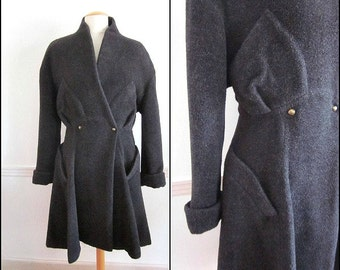 THIERRY MUGLER Alpaca Coat / vintage 80s Thierry Mugler / fits M / New Wave Thierry Mugler 1980s