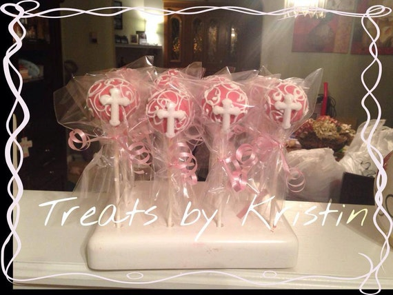 Communion or Baptism Cake Pops and Chocolate by ...