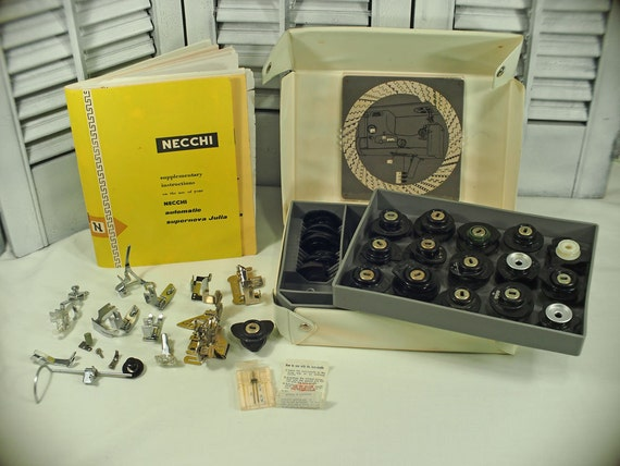 Necchi Supernova Julia Sewing Machine Accessory Set Kit In Box