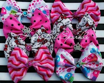 4 Fabric Bows bundle
