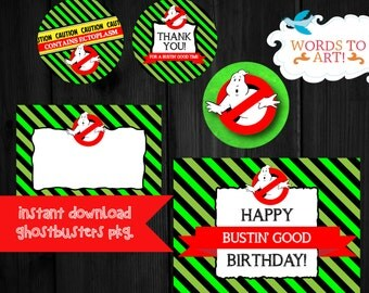 Instant Download - Ghostbusters Birthday Party Theme PARTY PACKAGE