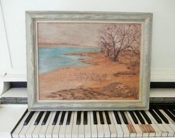 1950's, Painting, Original Frame, Mason's Island