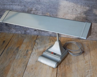 midcentury metal gooseneck desk lamp - made by Art Specialty Co. of Chicago
