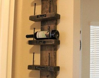 Rustic industrial wine rack