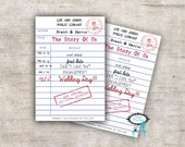 Personalized Library Card -  Save The Date - Book The Date - Library Card Invite - Theme Wedding - Wedding Invitation - Library Wedding