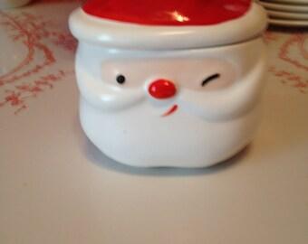 Vintage Winking Santa Sugar Bowl by Napco