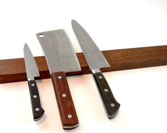 IVAMIR Solid Walnut Wood 18 Inch Magnetic Knife & Tool Rack Made in Canada