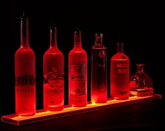 All Sizes LED Lighted Liquor shelves bottle display, liquor bottle shelf