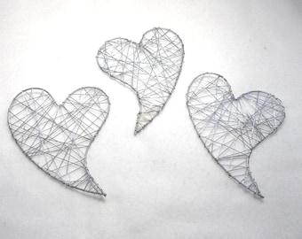 3 metal heart, 10 x 13 cm (1603)