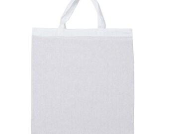 Bag, cotton, 38 x 43 cm, white (560)