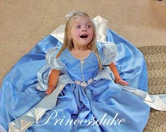 Cinderella Light Blue Inspired Princessduke Pageant Ball Gown