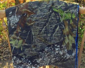 Royal Blue Mossy Oak Baby Blanket
