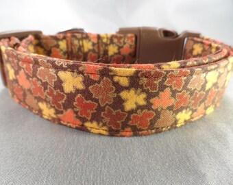 Small Autumn Maple Leaf Dog Collar