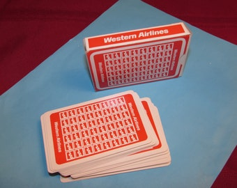 WESTERN AIRLINES Playing Cards Promotional