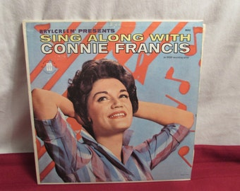Sing Along with CONNIE FRANCIS LP Record 1950s