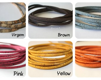 Cords Cork 4mm (1 meter) - Colors