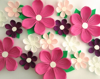 Nursery wall flowers paper flowers wall decor wedding 16 paper flowers wall flowers arch flowers wedding decoration large flowers mightylinksfo