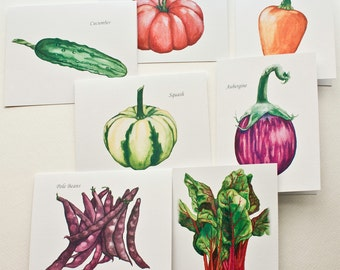 Garden Vegetables Notecards