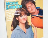 Rare Vintage, Original 1978 People Magazine Mork and Mindy Cover, Mork From Ork, Robin Williams, TV Show, Movie Star, Pam Dawber