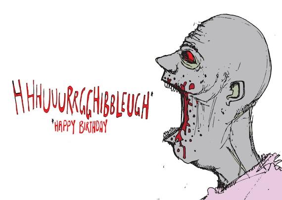 bon anniversaire zombie