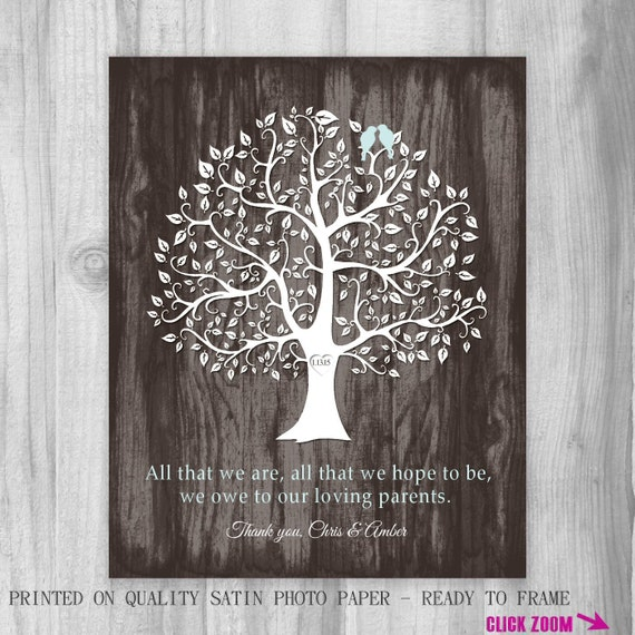 parents of the bride and groom personalized print thank you wedding