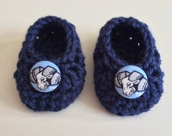 North Carolina Tar Heels baby booties