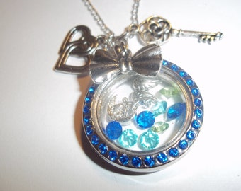 Living Floating Locket Pendant Doctor Who Necklace silver floating Charms