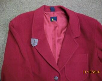 Liz Caliborne boyfriend jacket. light burgandy