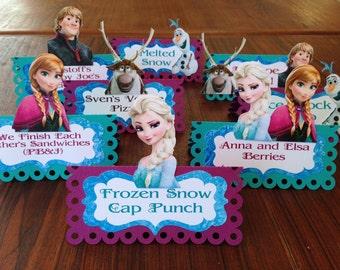 Frozen Birthday Food Labels// Set of 8 Food Labels