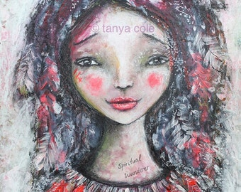 "ART PRINT 'Spirit Wanderer, Spiritual Wanderer' ~ Signed Open Edition 8.3' x 11.7"" by Tanya Cole"