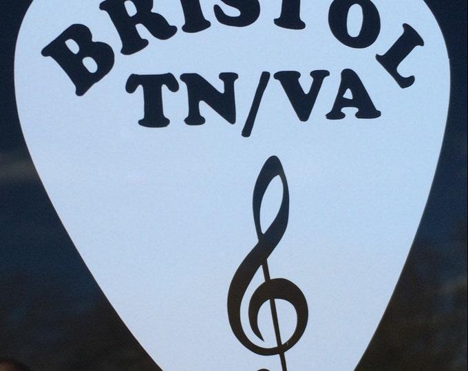 "Decal ""Bristol Pick"" vinyl"