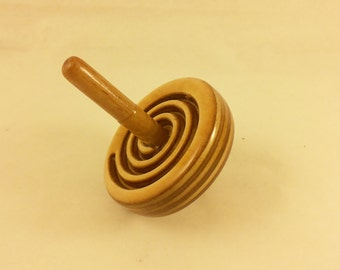 wooden spin top Spinning top Spiral Handmade Medium Wooden Spiral spinning top dreidel wood toy top toy